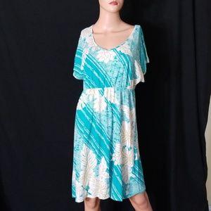 🌹3/$24🌹SONOMA FLORAL ELASTIC WAIST V-NECK DRESS